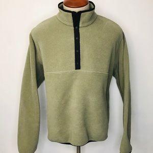 Vintage LL Bean Men's 1/4 Snap Fleece Jacket Large